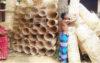 বাঁশ ও বেতের পণ্য বেচে সংসার চালাচ্ছে নওগাঁর আদিবাসীরা